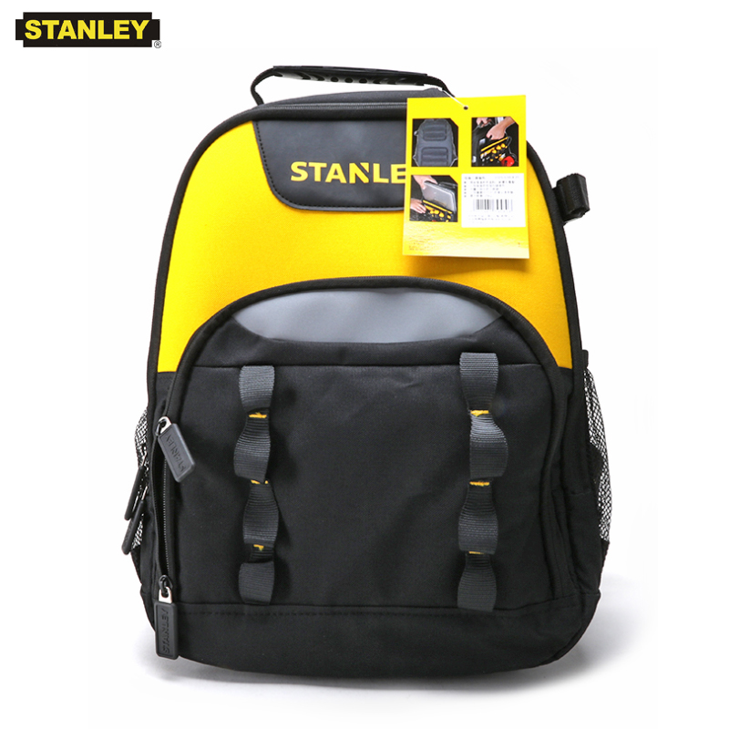 """Stanley multifunctional tool bag backpack electrician with 15.6"""" laptop pocket rucksack canvas tools storage bags"""