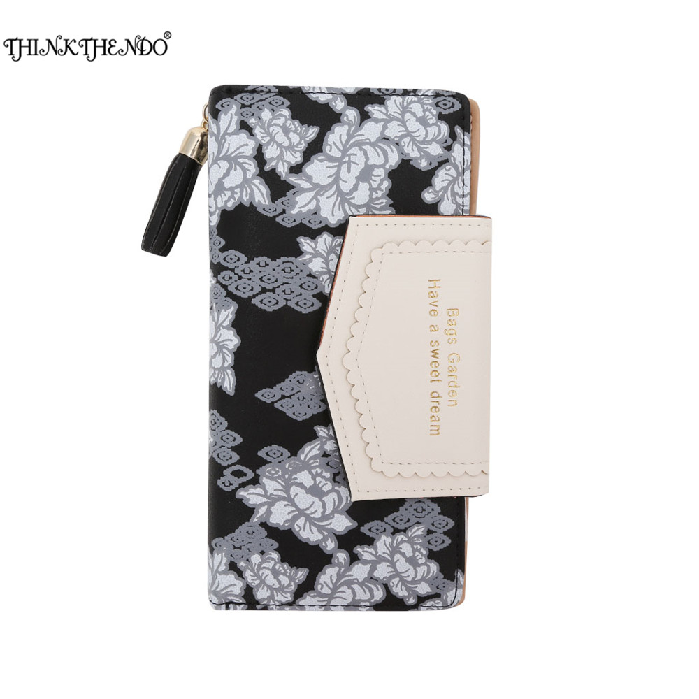 THINKTHENDO New Fashion Women Lady Faux Leather Clutch Wallet Long Card Holder Purse Bag new arrival fashion lady women retro purse clutch wallet long card holder bag black womens wallet portmonee women