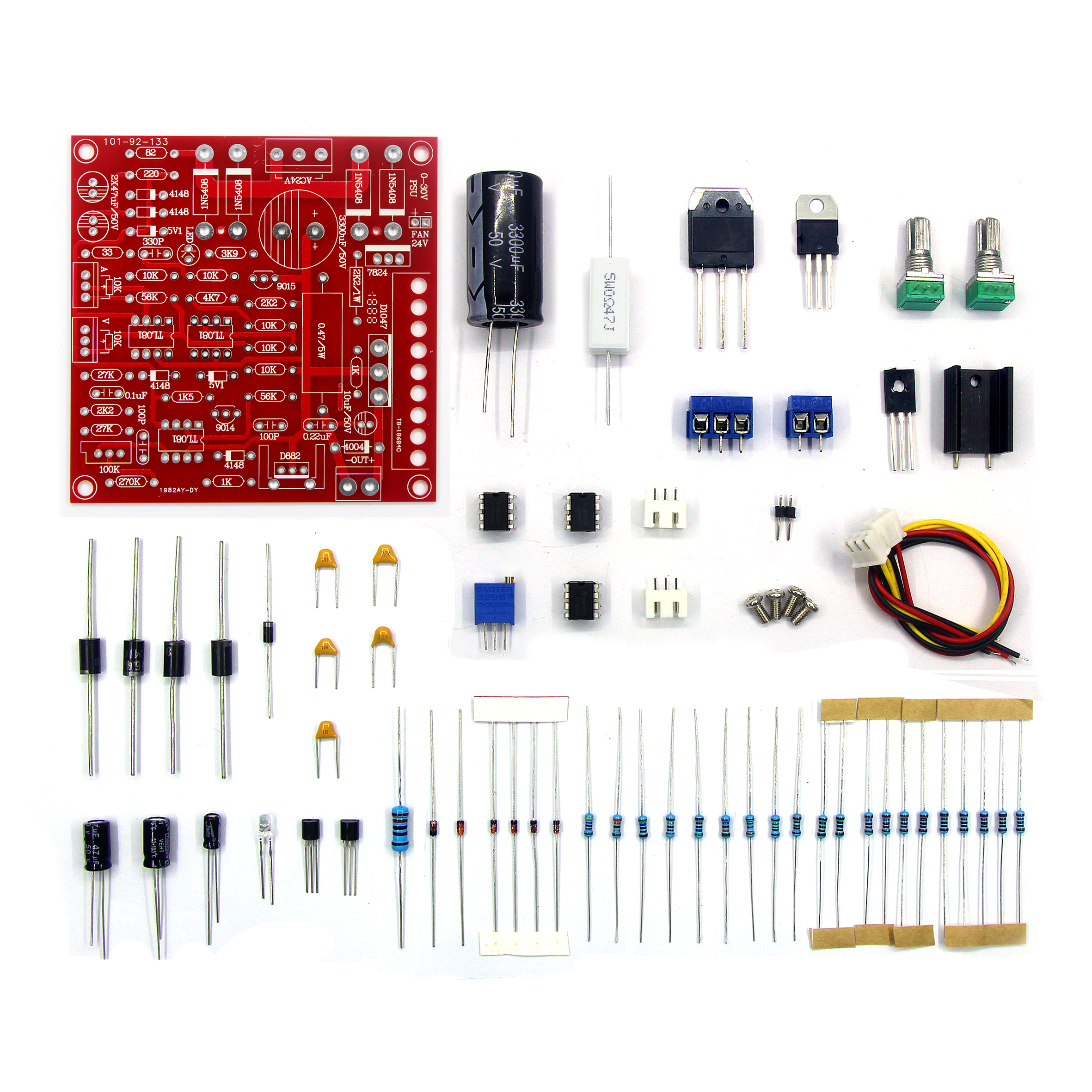 0-30V 2mA-3A DC Regulated Power Supply DIY Kit Continuously Adjustable  Current Limiting Protection For School Education Lab
