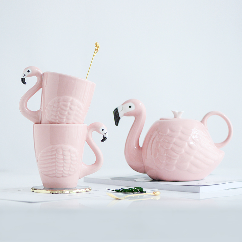 3d Animal Flamingos Bird Teapots Super Beauty Ins Girl