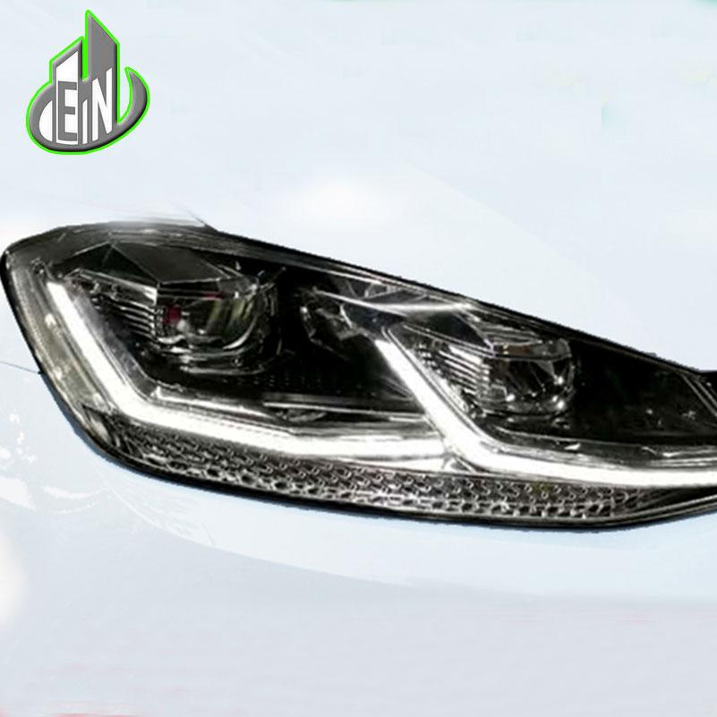 Car Styling For VW Golf7.5 Headlights Golf 7.5 MK7.5LED Headlight DRL Lens Double Beam H7 HID Xenon bi xenon lens tunning headlights for vw for volkswagen golf 7 2014 2015 v2 uu angel eye led turn light h7 hid bi focal lens ld