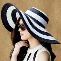 New Fashion Bohemian Style High Quality Summer Sun Hat For Women Hat Large Visors Beach Hat