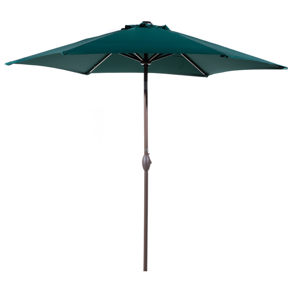 Abba Patio 9 Ft Market Outdoor Aluminum Patio Umbrella with Tilt  Crank Dark Green