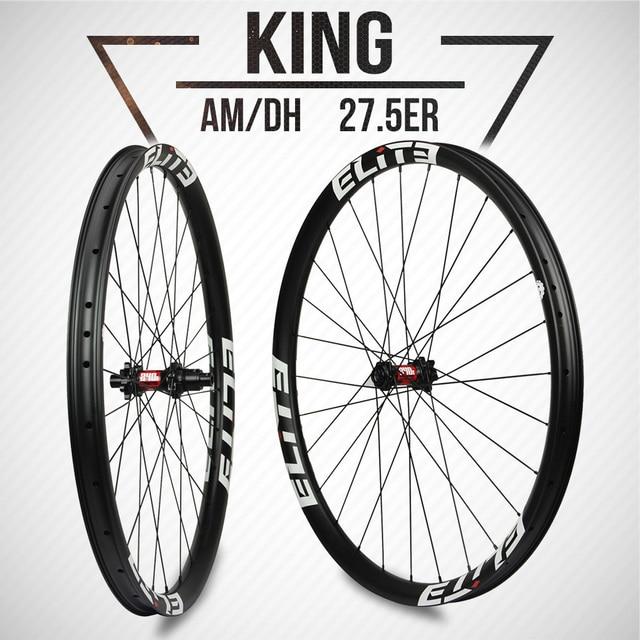 ELITEWHEELS DT Swiss 240 Series 27.5er MTB ruote 40*30mm Downhill DH Enduro Rim Hookless Tubeless JapanToray T700 fibra di carbonio
