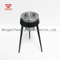 Ford Viscosity Cup 3# Aluminum Paint Viscosity Cup With Tripod 100ml Capacity 25 105 Measuring range