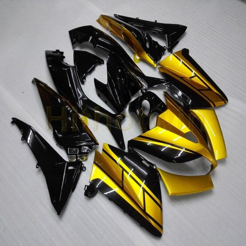 Personnalisé + Injection moule or noir ABS MAX 500 2012-2014 moto corps kit pour Yamaha MAX500 2012 2013 2014 année carénage