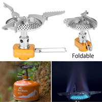SGODDE Outdoor Fire Maple Titanium Gas Cooking Stove Gas Mini Burners Camping Equipment Hiking Picnic Igniter Survival Furnace