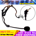 3.5mm Connector Wired Stereo Condenser Headset Microphone Headworn Earhook Mic Mikrofon Mike For Wireless BodyPack Transmitter