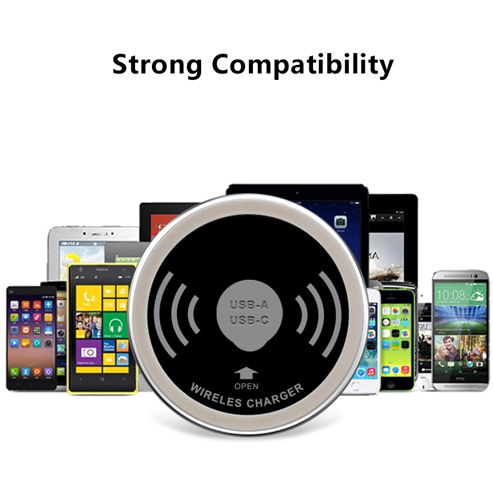 Universal Wireless Charger Embedded Desktop Wireless Transmitter Qi Standard Smart Furniture Office Charger For iPhone 8 X Plus