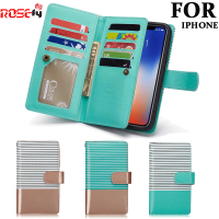 2 In 1 Magnetic Wallet Pu Leather Cases For Apple Iphone 6 6s 7 8 Plus