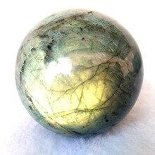 50 мм натуральный Лабрадорит хрустальный шар diviners камень шар дом декоративный шар камни и Кристалл Исцеление фэншуй