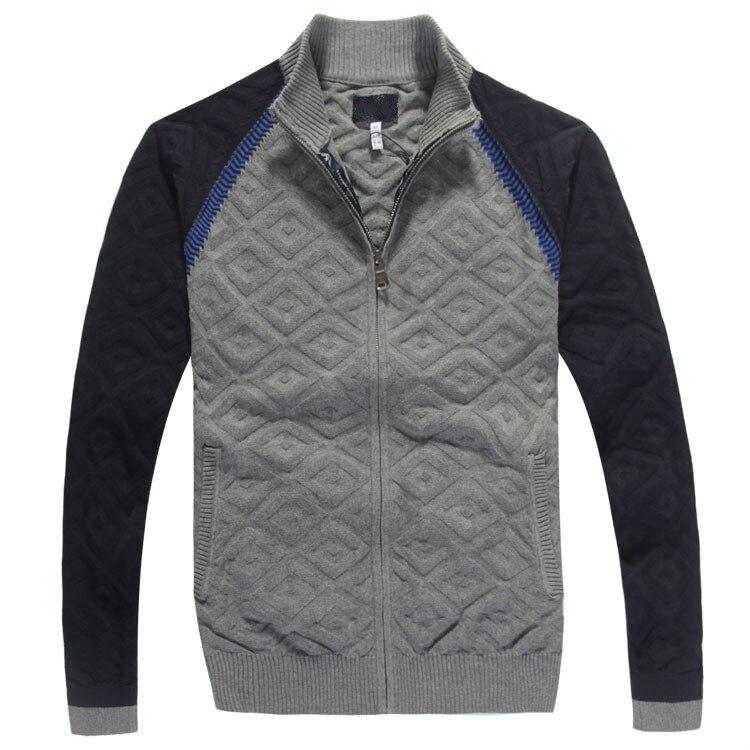 Diamante de punto Sweater hombres 2015 otoño invierno