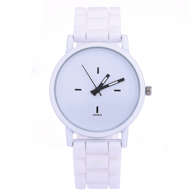 Silicone Womens Quartz Wristwatches Grils Boy Sports Watches Silicone Band Big Dial Reloj Mujer Relogio Feminino Mens Watch Gift