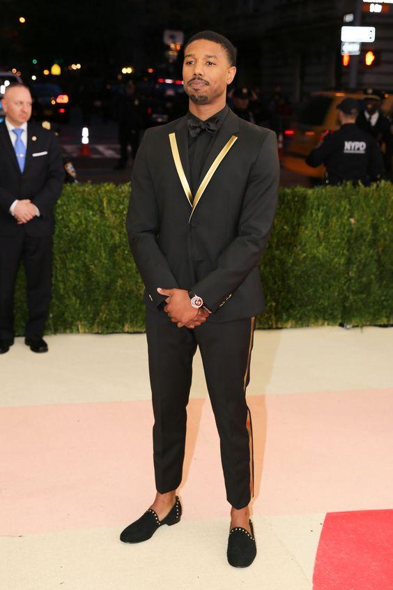 2017 Latest Coat Pant Designs Black Gold Lapel Men Prom Suit Tuxedo Slim Fit 2 Piece Suits ...
