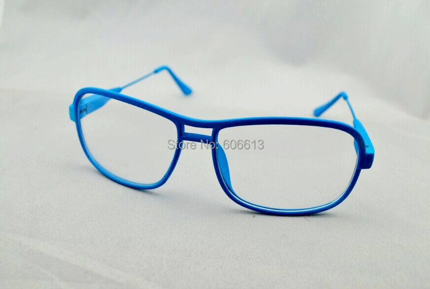 Plástico moda doble puente lente transparente anteojos del partido ...