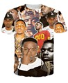 New fashion 2016 summer style women/men's 3D print Kendrick Lamar t shirt short sleeve hip hop tops tees