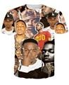 Nueva moda 2016 verano estilo mujeres/hombres 3D imprimir Kendrick Lamar camiseta de manga corta de hip hop tops tees