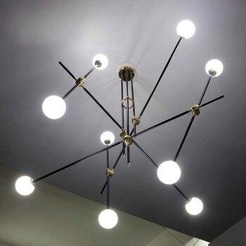 Iron type hanglampen industriële stijl woonkamer slaapkamer studie kledingwinkel home verlichting geometrische hanger lampen ZA