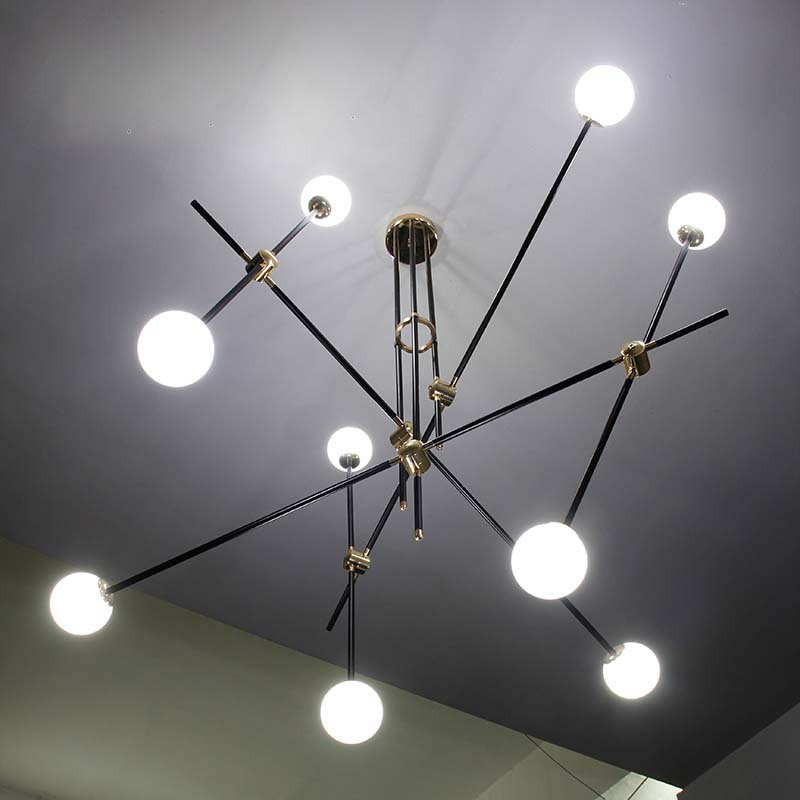 Commercial Lighting Types: Iron Type Pendant Lights Industrial Style Living Room