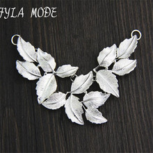 Fyla Mode Women Men Thai Silver Pendants Jewelry Vintage S925 Sterling Silver Leaf Pendant For Necklace Original Design Handmade