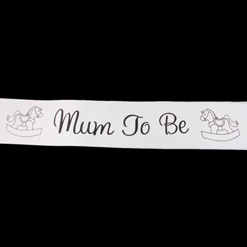 1pc mum to be sash baby shower party decoration belt satin ribbon