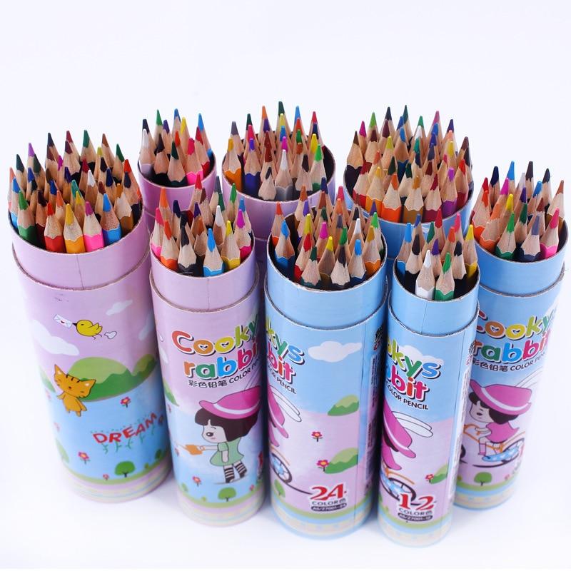 Бөтелкедегі оқушыларға кәсіби боялған түрлі-түсті қарындаштар жиынтығы 24 түсті, 36 түрлі-түсті бояулар жиынтығы Secret Garden арнайы түсті қарындаштар
