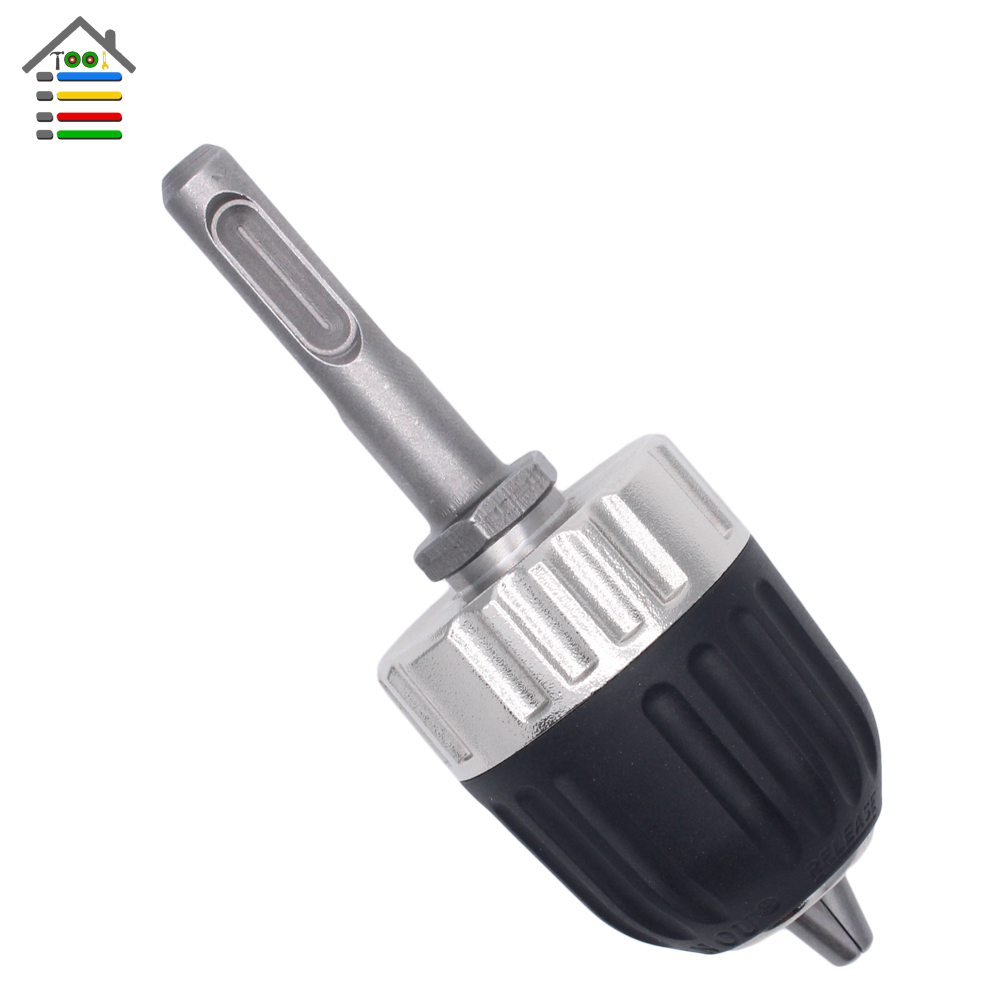 New Heavy Duty Professional Keyless Drill Chuck Impact with Cap 0.8-10mm with 3/8-24UNF SDS Adaptor Shank for Hammer Drill цена