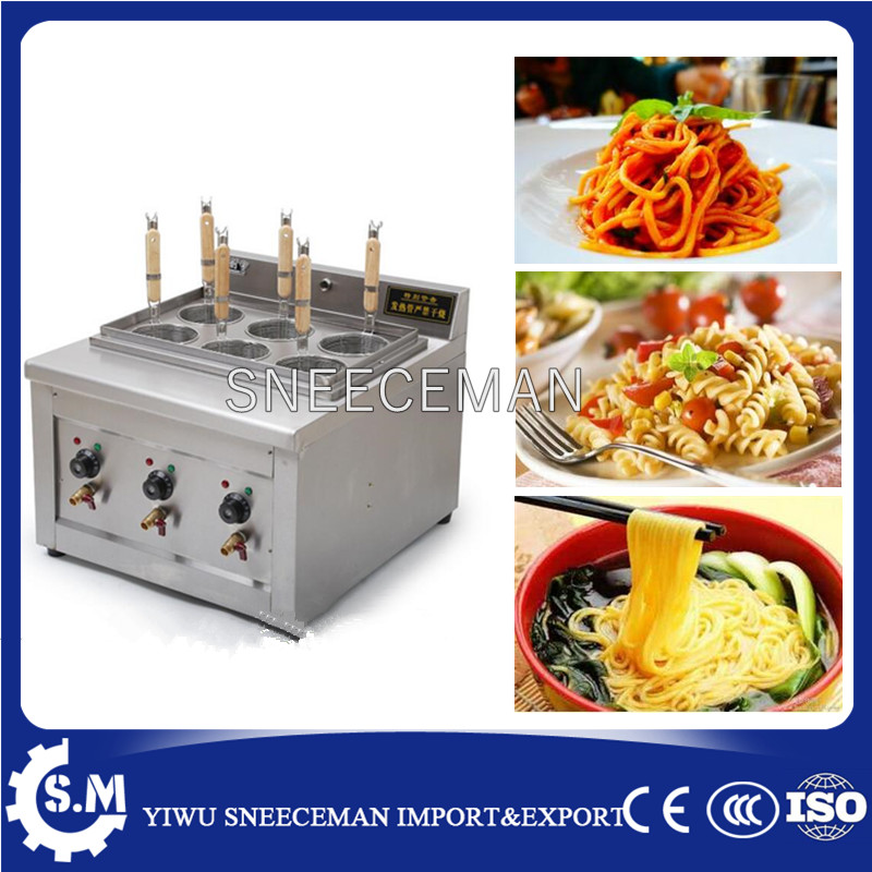 electric cooking stove with six baskets Desktop noodle cooking machine