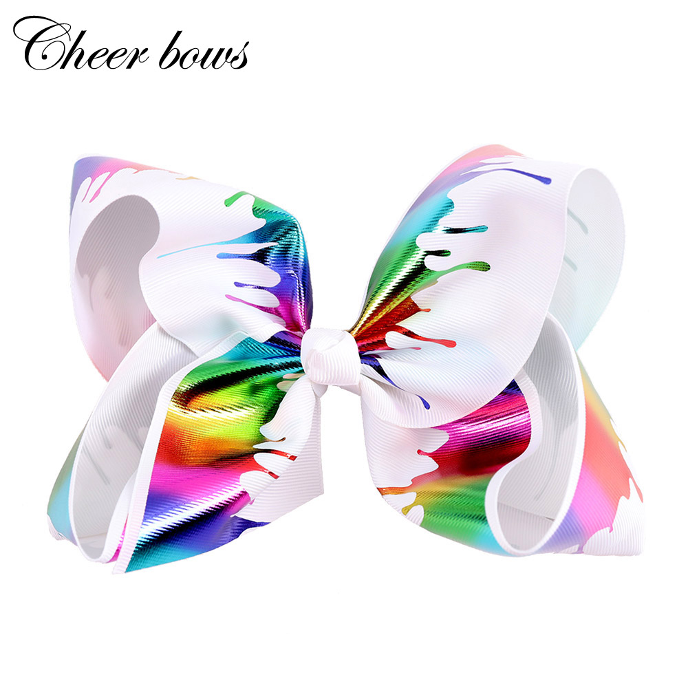 Hair-Clips Ribbon Handmade Girls Princess JO for Kids 7-Bow Graffiti