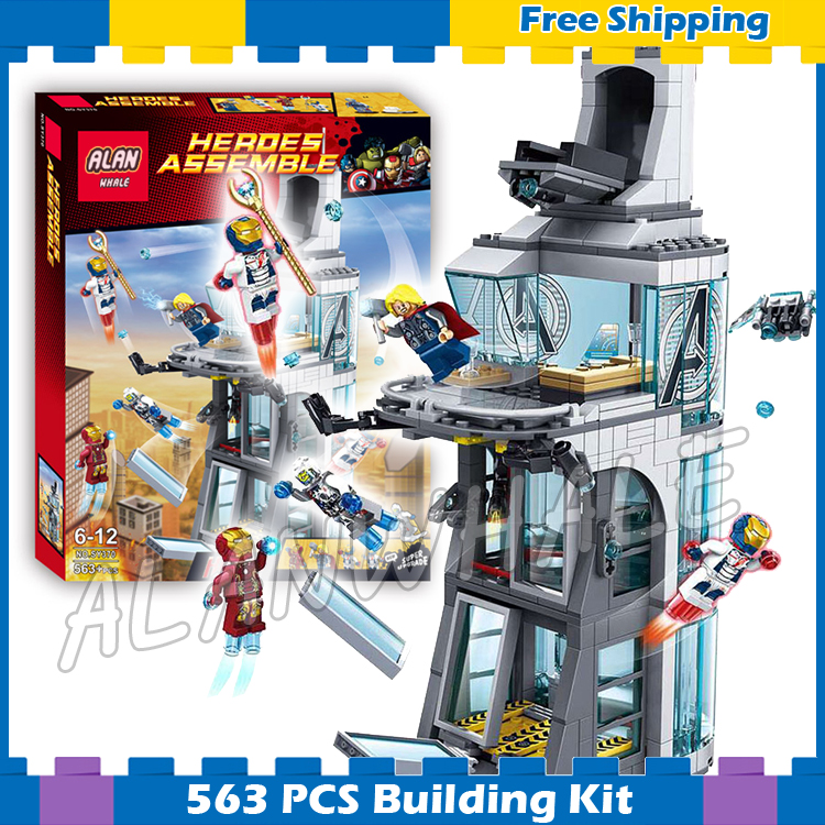 563pcs Super heroes Avengers Ultron Attack on Tower font b Construction b font SY370 Model Building
