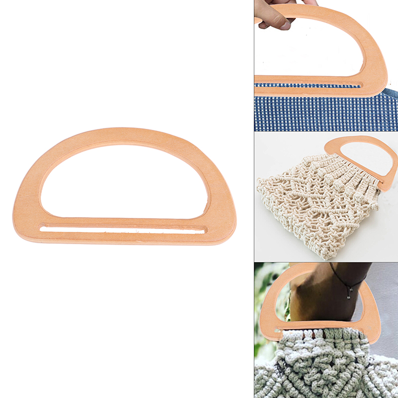1PCS Wooden Bag Handle Replacement For DIY Bags Purse Making Handbag Shopping Tote Bag Accessories