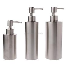 Dispenser-Bottle Liquid-Soap Pump Lotion Bathroom Kitchen 304-Stainless-Steel Oct15 Dropship