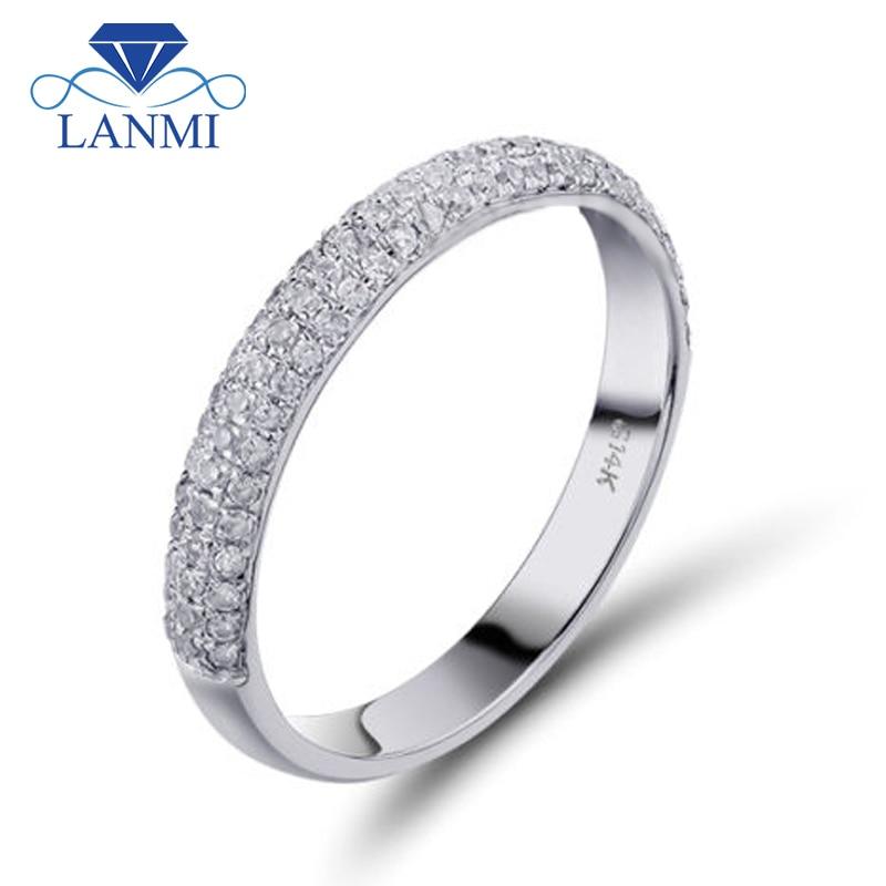 Vintage Šperky Pevné 14 Kt Bílé Zlato Pravá Diamantová - Šperky