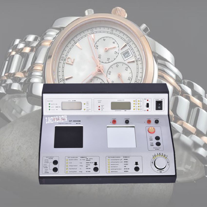 1PC QT-8000B Quartz watches tester Timegrapher Timing machine quartz watch slow and fast tester Watch Clock Repair Tool цены