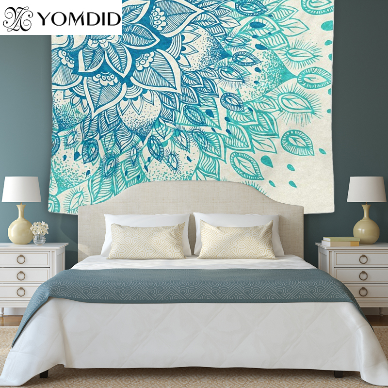 Polyester Indian Mandala Tapestry Wall Art Hanging Carpet Beach Towels Decorative Blankets Tablecloths Home Decor Accessories Smart Home Home Automation Modules