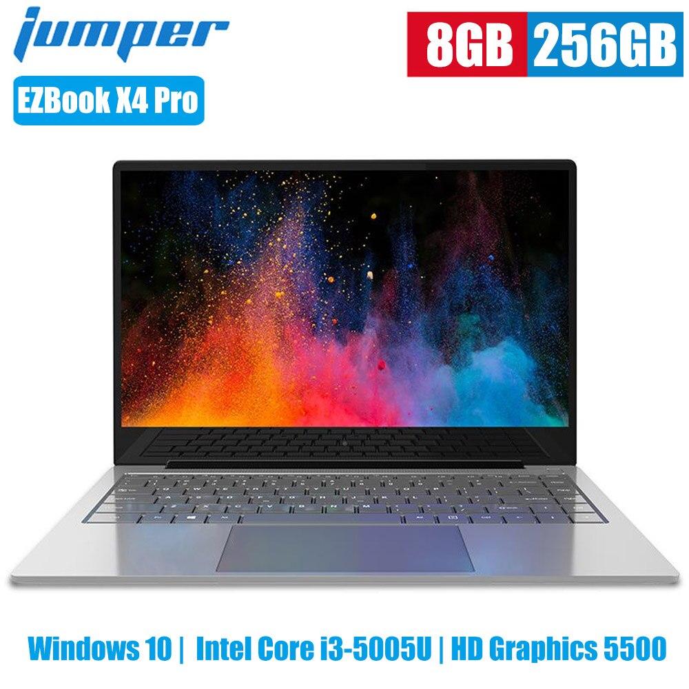 Jumper EZBook X4 Pro Laptops 14 Inch Windows 10 Intel Core I3-5005U HD Graphics 5500 Dual Core 8GB 256GB 2MP Camera Notebook PC