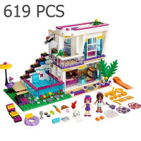 Bela 10498 Friends Series Livi S Pop Star House Andrea Mini Doll Building Blocks Educational Bricks