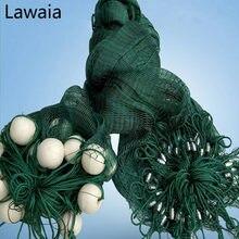 Lawaia длинной 15м 1м высокого литья сетки, рыболовные сети тянуть-чистых ферм, перил Анти-плетение птицы, рыбные пруды Бредень