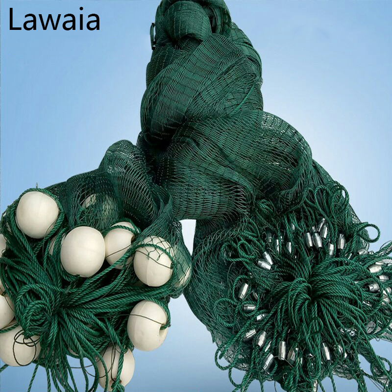 Lawaia 25m Long 1m High Casting Nets, Fishing Nets Pull, Pull-net Farms, Railing Anti-bird Netting, Fish Ponds Dragnet цена и фото