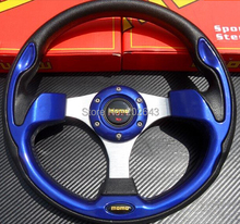 """GV-ST008 Blue universal car steering wheel for racing13""""320mm pvc leather steering wheel  car styling car-styling car-covers"""