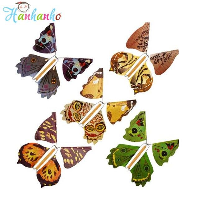 20 pcs lot de m lange magique de vol papillon vent up papier papillons tours de magie jouets de. Black Bedroom Furniture Sets. Home Design Ideas