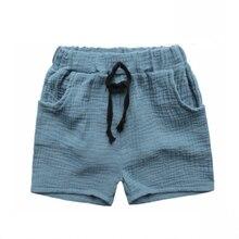 Коллекция года, модная одежда для мальчиков штаны для девочек детские летние брюки детские штаны, Шорты Для Маленьких Мальчиков пляжные дешевые однотонные льняные штаны, 90 до 130