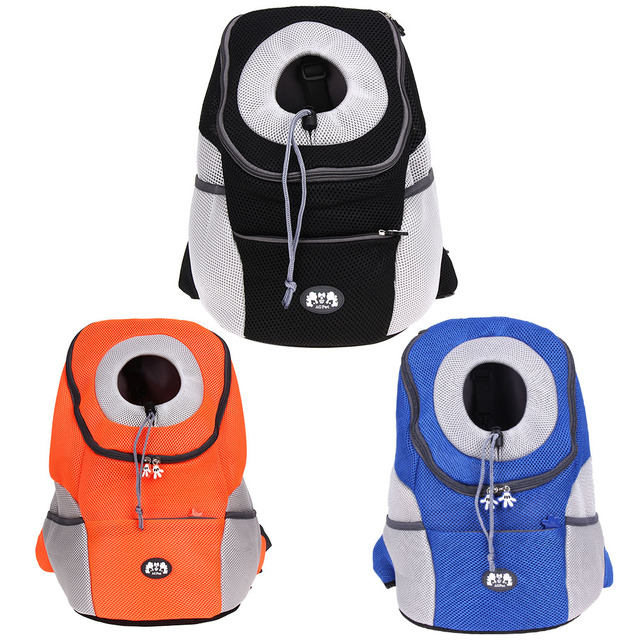 Pet Backpack Carrying Dog Bags Breathable Outdoor Travel Bag Dog Carrier Backpack Pet Dog Front Bag Double Shoulder Bag