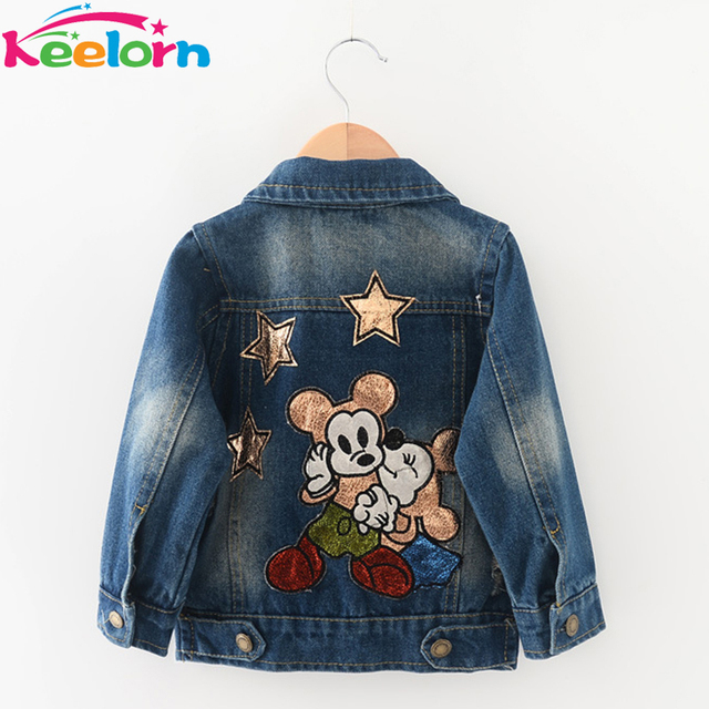 Keelorn Kids Jackets 2017 Children Clothing Outerwear&Coats for Girls Clothes Long Sleeve Cartoon Print Design Girls Costs