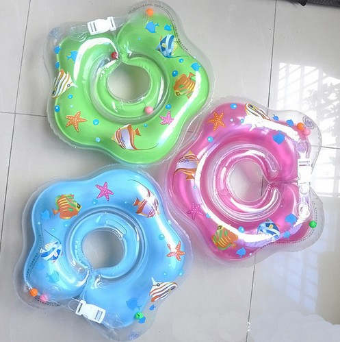 Mother & Kids 1pcs Neck Float Swimming Newborn Baby Swimming Neck Ring With Pump Gift Mattress Cartoon Pool Swim Ring 0-2 Years Old Baby Activity & Gear