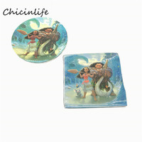 Chicinlife 1set Moana Paper Napkins Decoupage Paper Plates Kids Birthday Party Supplies Baby Shower Decoration