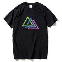 Hanhent Пэйн Лодзи треугольники футболка невозможно Футболки Уличная гиковская рубашка Vivid Camisetas Harajuku Топ