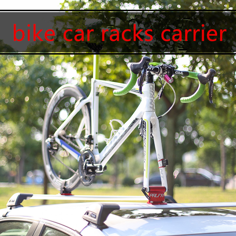 CNC Bike Car Roof Rack Fork Mount Stand Holder Bicycle Support Accessories Red