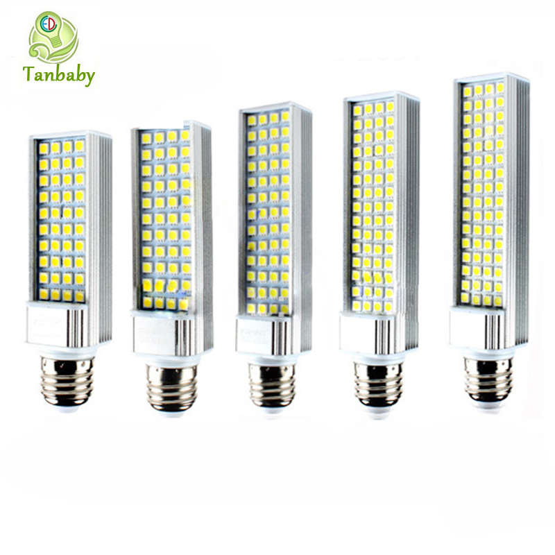 Tanbaby led corn bulb SMD 5050 led lamp 180 degeree AC85-265V 6W 7W 9W 10W 12W 14W 15W led lighting E27 G24 led bulb r7s 15w 5050 smd led white light spotlight project lamp ac 85 265v
