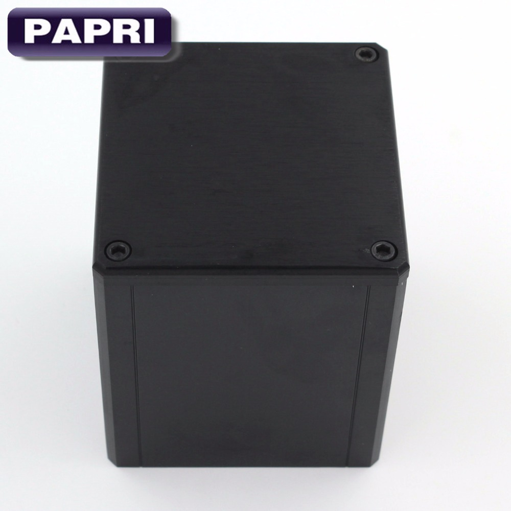 PAPRI 1 шт. 84*80*91 мм черный, серебристый цвет Алюминий трансформатор чехол коробка защитить крышку корпуса для усилитель звуковой трубки